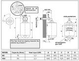 Plynový ohrievač vody 80l Ariston S/SGA BF X 80 EE