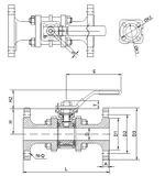 Guľový ventil KSB PROFIN-SI3FIT PN40 DN50 - trojdielny