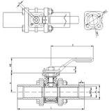 Guľový ventil KSB PROFIN-SI3LIT PN40 DN25 - trojdielny