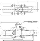 Guľový ventil KSB PROFIN-VT3L PN40 DN10 - trojdielny