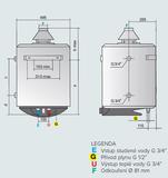 Plynový ohrievač vody 50l Quadriga 50V CA-E
