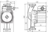 Obehové čerpadlo Wilo Star-Z 20/4-3 EM PN10 230V