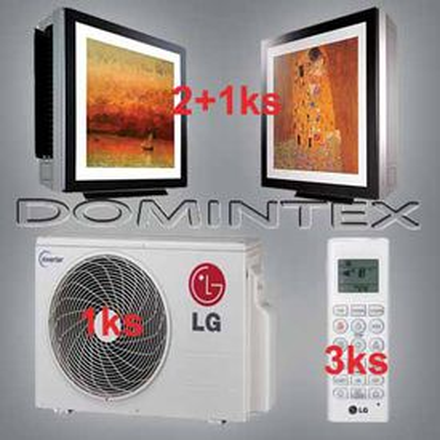 Klimatizácia LG Gallery 9,6kW 2xMA12AH1/1xMA09AH1