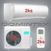 Klimatizácia Midea Blanc 10,6 kW 2xMSMACU-18HRFN1