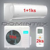 Klimatizácia Midea Blanc 6,1kW 1x09HRDN1/1x12HRDN1
