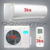 Klimatizácia Midea Blanc 7,8kW 3xMSMAAU-09HRDN1