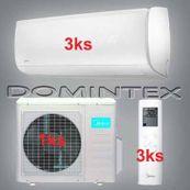 Klimatizácia Midea Mission 7,8 kW 3xMSMBAU-09HRFN1