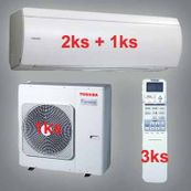 Klimatizácia Toshiba SuperDaiseikai 6.5 9.5kW1x RAS-B10N 2x-RAS-B13N