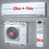 Klimatizácia Toshiba Suzumi Plus 8.5kW 2xRAS-B10N 1xRAS-B13N
