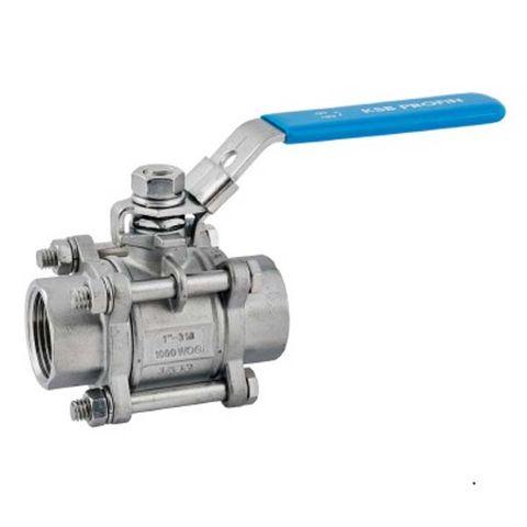 "Guľový ventil KSB PROFIN-VT3 PN40 DN32/1 1/4"" - trojdielny"